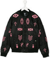 Marcelo Burlon County Of Milan Kids logo embroidered bomber jacket