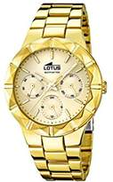 Lotus Women's Quartz Watch with Gold Dial Analogue Display and Stainless Steel Gold Plated Bracelet 15920/2