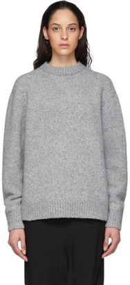 Acne Studios Grey Cashmere Crewneck Sweater