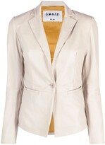 Thumbnail for your product : S.W.O.R.D 6.6.44 Fitted Leather Jacket