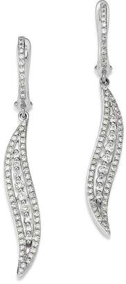 Bloomingdale's KC Designs 14K White Gold Curve Diamond Earrings
