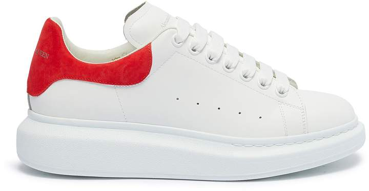 ec24a52f 'Oversized Sneaker' in leather with suede collar