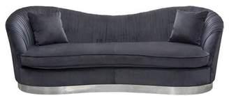 Pandora Diamond Sofa Curved Sofa Diamond Sofa Upholstery Color: Midnight