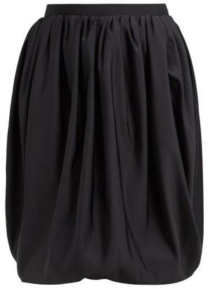 Calvin Klein Gathered High Rise Bubble Hem Skirt - Womens - Black