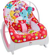 Fisher-Price Baby Infant-to-Toddler Rocker, PINK FLOWERY CHEVRON by