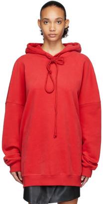 we11done Red Back Logo Hoodie