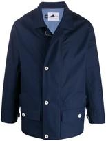 Anglozine zip-up flap pocket raincoat