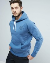 Jack Wills Batsford Logo Hoodie in Marine Blue