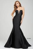 Jovani Strapless Deep Cut Sweetheart Mermaid Gown 31508