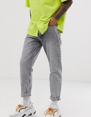 Topman loose fit jeans in grey wash