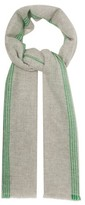 Isabel Marant Vadim Striped Cashmere Scarf - Womens - Grey