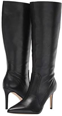 Nine West Fivera Wide Calf (Black) Women's Shoes