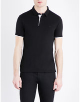Armani Jeans Two-tone cotton-jersey polo shirt