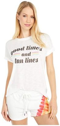 PJ Salvage Tan Lines Tee (Ivory) Women's Clothing