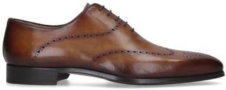 Magnanni Burnished Punched Loafers