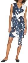 Halston Printed V-Neck Dress