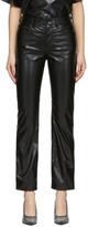 MM6 MAISON MARGIELA Black Faux-Leather Trousers