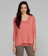 Eileen Fisher 3/4-Sleeve Linen Top