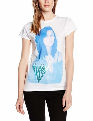 Katy Perry Women's Hologram Holographic Foil Short Sleeve T-Shirt