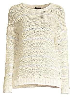 Peserico Women's Crochet Knit Sweater