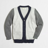 J.Crew Factory Boys' colorblock cardigan sweater