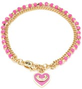 Juicy Couture Heart Bead And Chain Bracelet