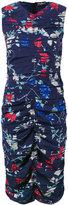 Salvatore Ferragamo pleated floral fitted dress - women - Silk/Spandex/Elastane - 40