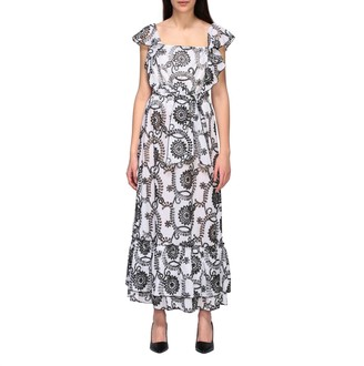 Hanita Long Dress In Sangallo Cotton