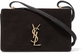 Saint Laurent Monogramme Dylan Small Suede And Leather Shoulder Bag - Black