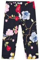 MonnaLisa Navy Rose and Butterfly Print Leggings