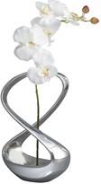 Nambe Infinity Silk Orchid Vase