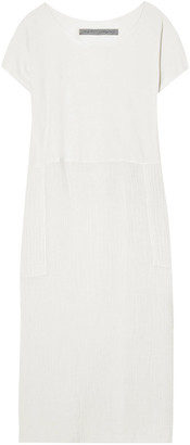 Raquel Allegra Jersey-paneled Cotton-gauze Midi Dress