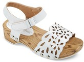 Cat & Jack Toddler Girls' Vanna Two Piece Wood Wedge Slide Sandals With Chop Outs Cat & Jack - White
