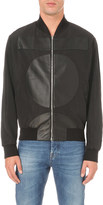 McQ by Alexander McQueen leather pattern shell bomber jacket