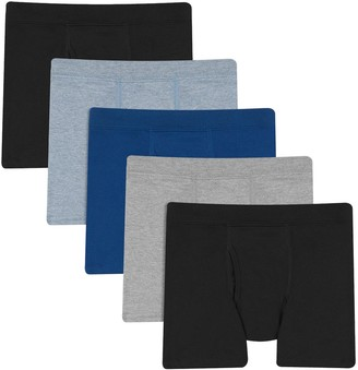 Hanes Boys 6-20 Ultimate 5-Pack Comfort Cotton Boxer Briefs