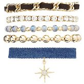Charlotte Russe Starburst Layering Bracelets - 5 Pack