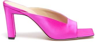 Wandler 'Isa' square vamp satin sandals