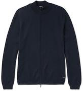 HUGO BOSS Slim-Fit Cotton Zip-Up Sweater