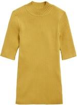 Banana Republic Ribbed Mock-Neck Sweater Top