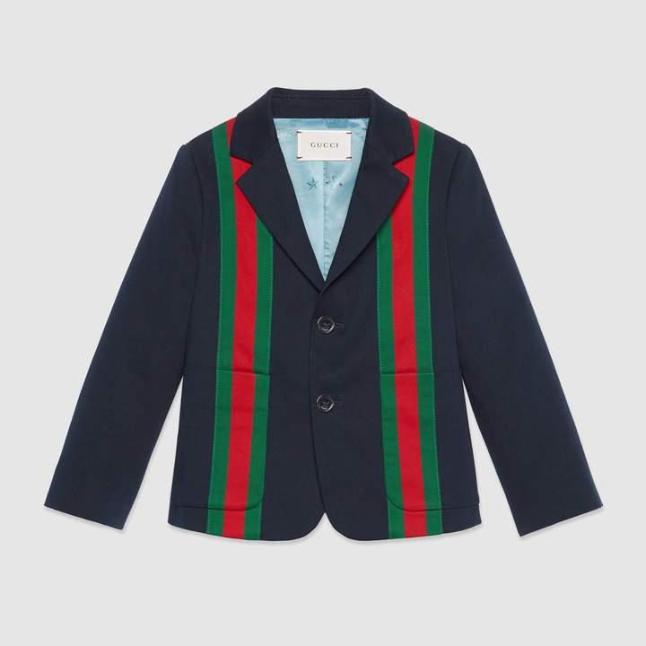 Gucci Children's gabardine jacket with Web