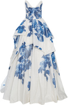Monique Lhuillier Draped Bodice Ball Gown