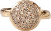 Tamara Comolli Large Cognac Diamond Pave Bouton Ring