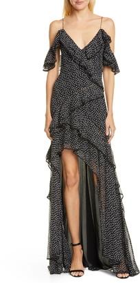Jonathan Simkhai Speckle Print Off the Shoulder Maxi Dress