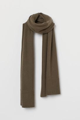 H&M Fine-knit Cashmere Scarf - Green