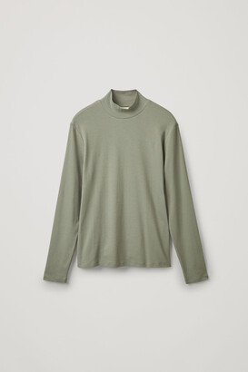 Cos Ribbed Roll-Neck Top