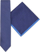 Lanvin Circle And Triangle-print Silk Tie And Pocket Square Set