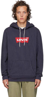 Levi's Levis Blue and White Logo Modern HM Hoodie