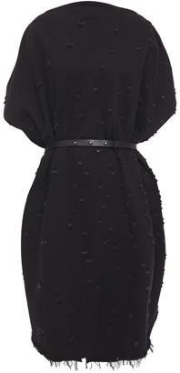MM6 MAISON MARGIELA Oversized Belted Distressed Denim Dress