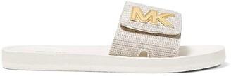 MICHAEL Michael Kors MK Slide (Black 1) Women's Sandals