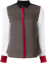 GUILD PRIME contrast striped blouse